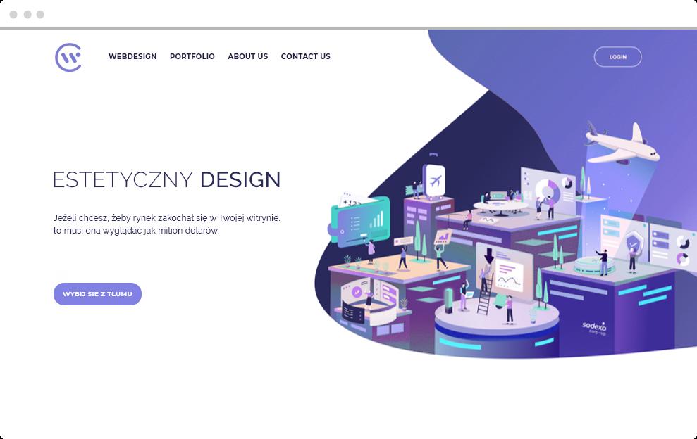 estetyczny design witryny